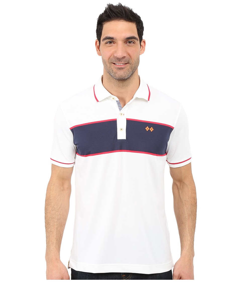Robert Graham - Argento Polo (White) Men's Short Sleeve Knit