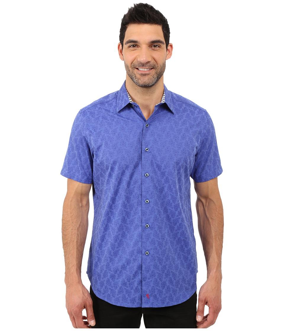Robert Graham - Seven Wonders Short Sleeve Shirt (Sapphire) Men's Short Sleeve Pullover