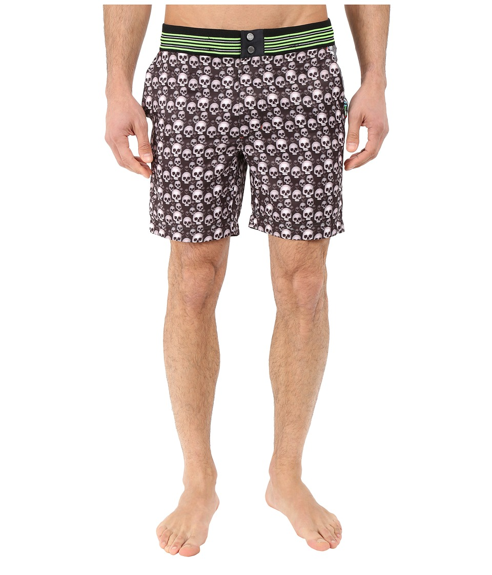 Robert Graham - Dead Wash Woven Swimwear (Black) Men's Swimwear