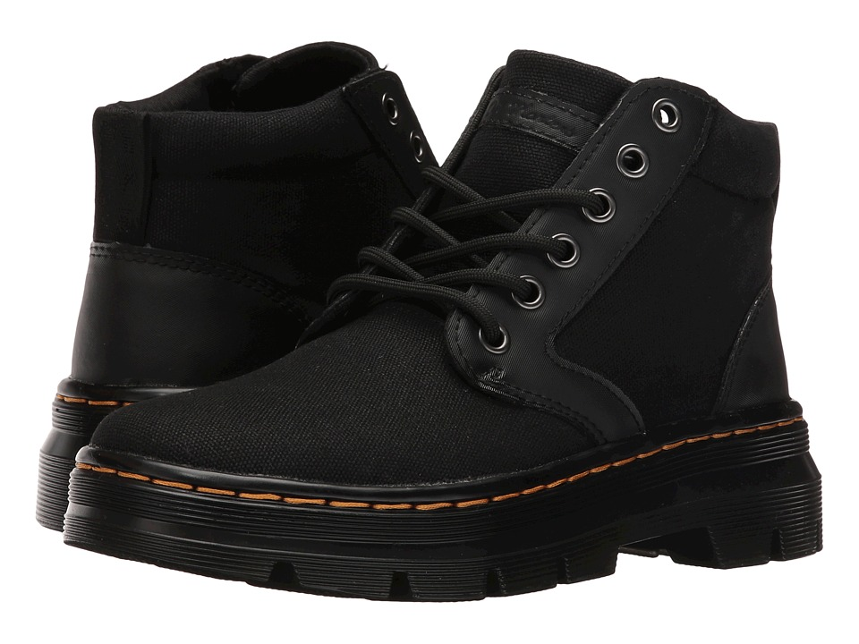 Dr. Martens - Bonny Chukka Boot (Black 12oz. Waxy Canvas/Kanga) Lace-up Boots