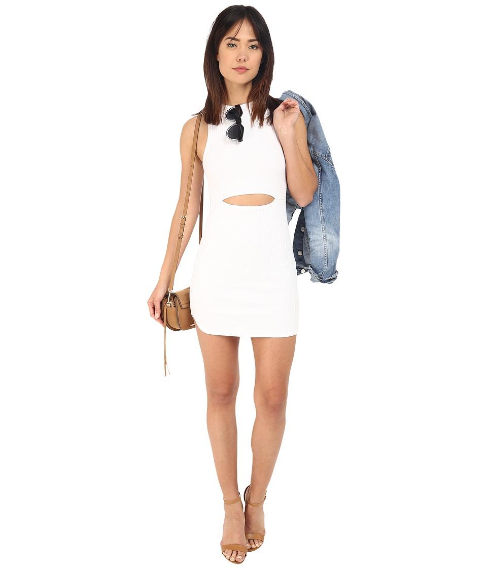 Clayton - Zouma Wide Rib Dress (White) Women's Dress