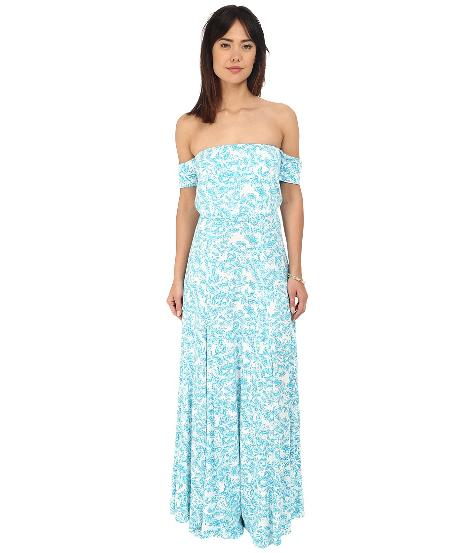 Clayton - Margaret Dress (Turquoise Sunflower) Women's Dress