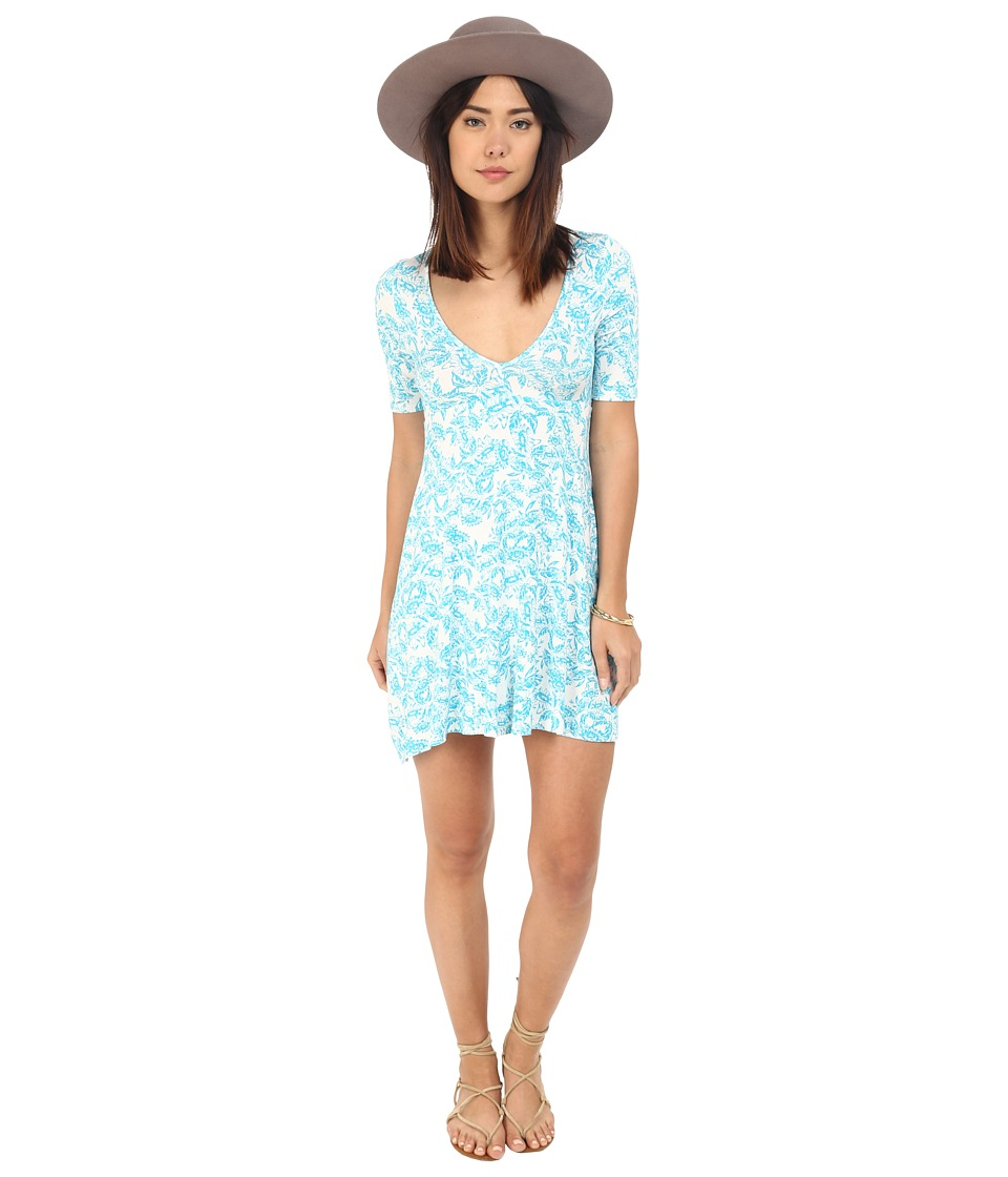 Clayton - Naya Dress (Turquoise Sunflower) Women's Dress