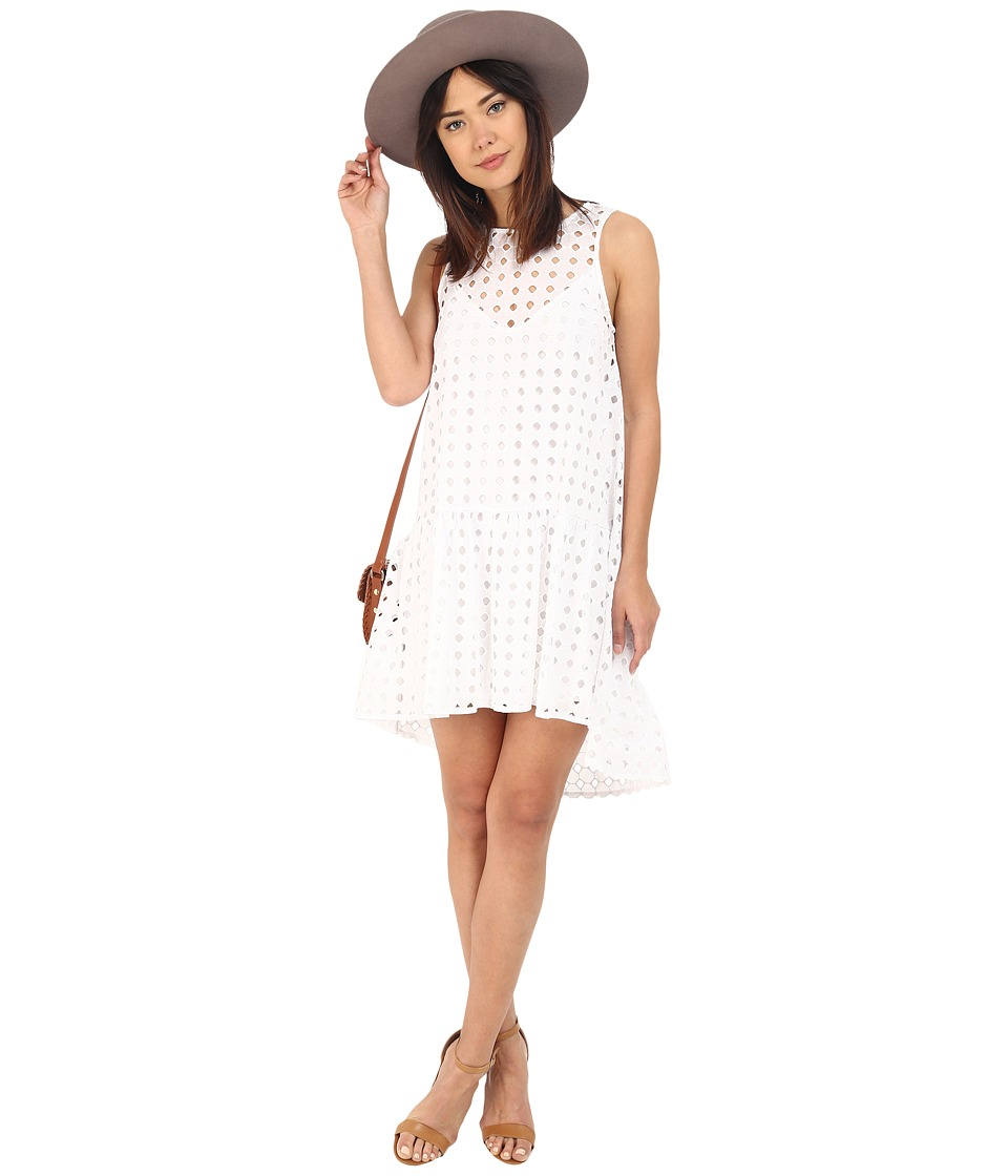 Clayton - Finn Eyelet Dress (Eyelet White) Women's Dress
