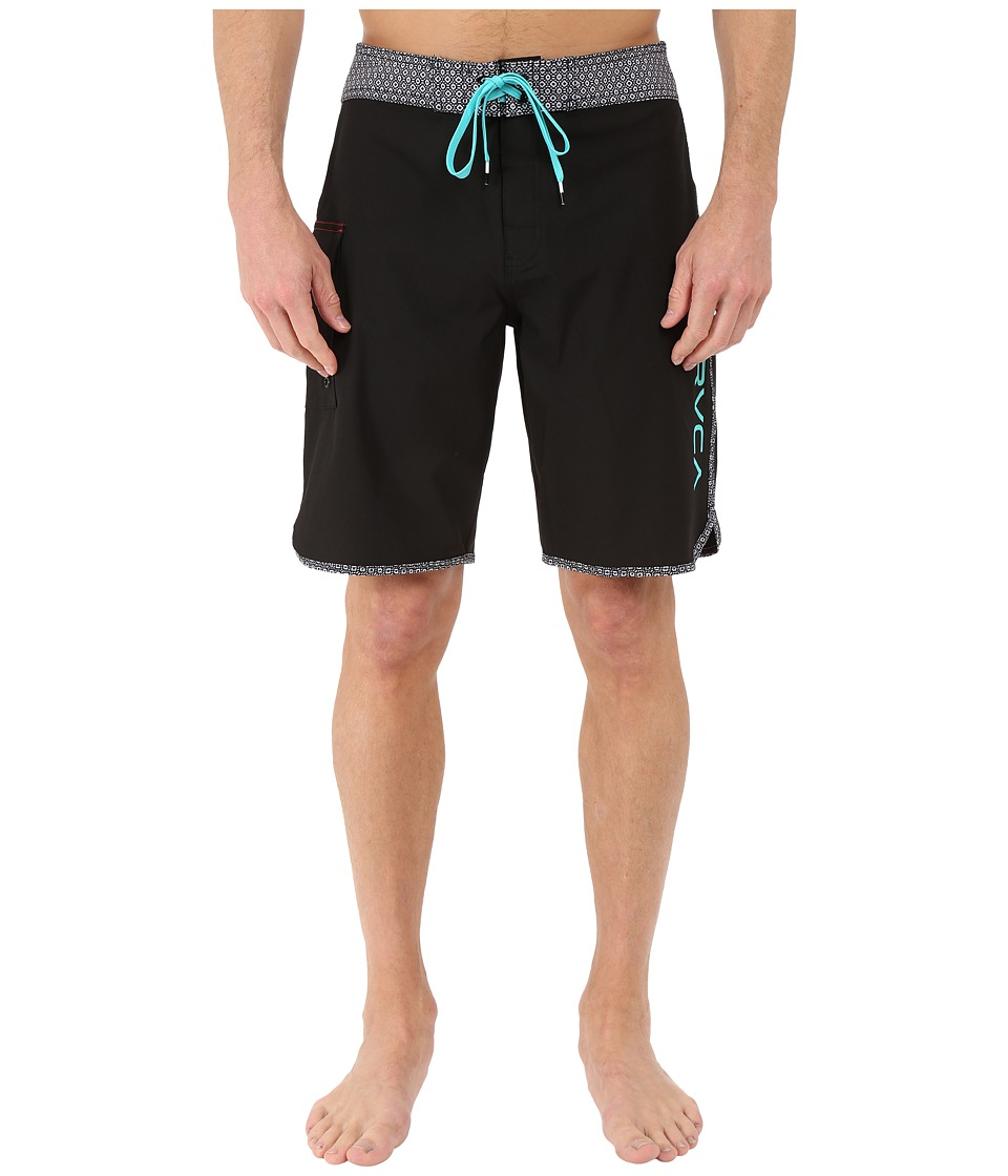 RVCA - Eastern 20 Trunks (Black Print) Men's Swimwear