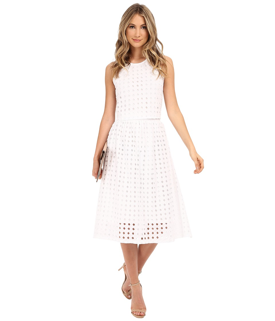 Clayton - Vernon Eyelet Skirt (Eyelet White) Women's Skirt