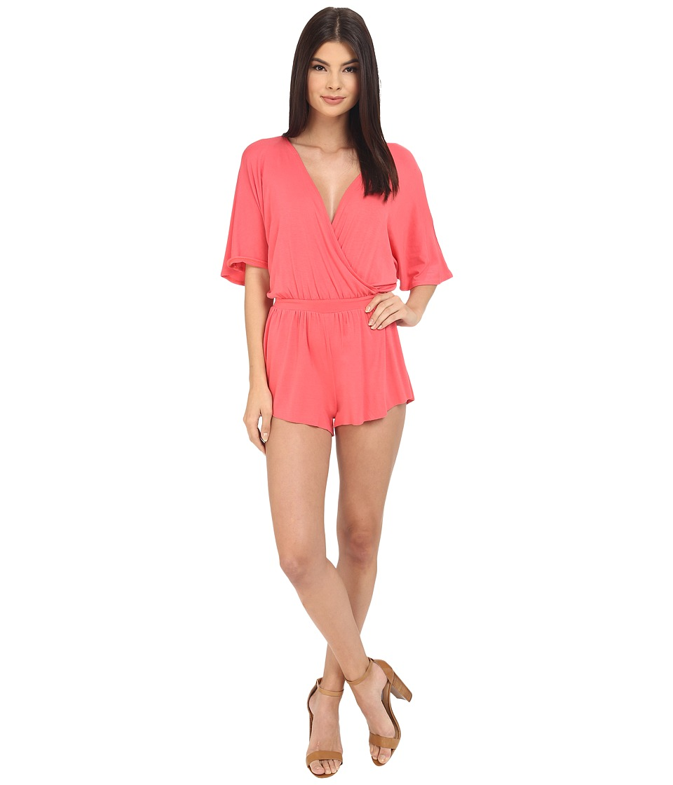 Clayton - Karmina Playsuit (Coral) Women's Jumpsuit & Rompers One Piece