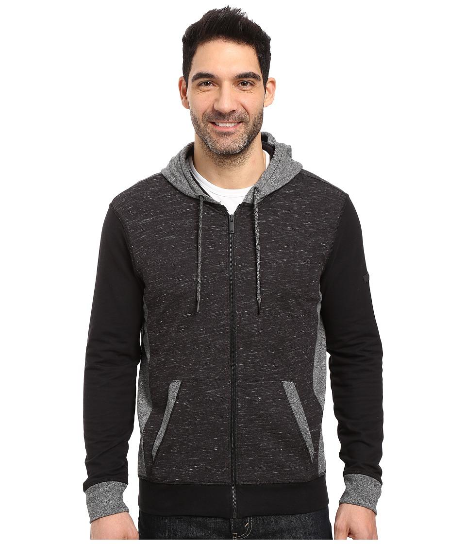 Calvin Klein Jeans - Texture Block Hoodie (Black) Men's Sweatshirt