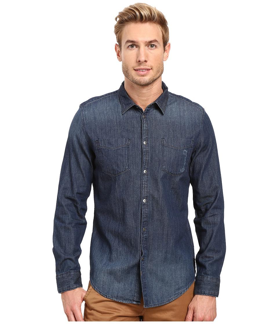 Calvin Klein Jeans - Alpha Indigo Denim Shirt (Alpha Indigo Denim) Men's Clothing
