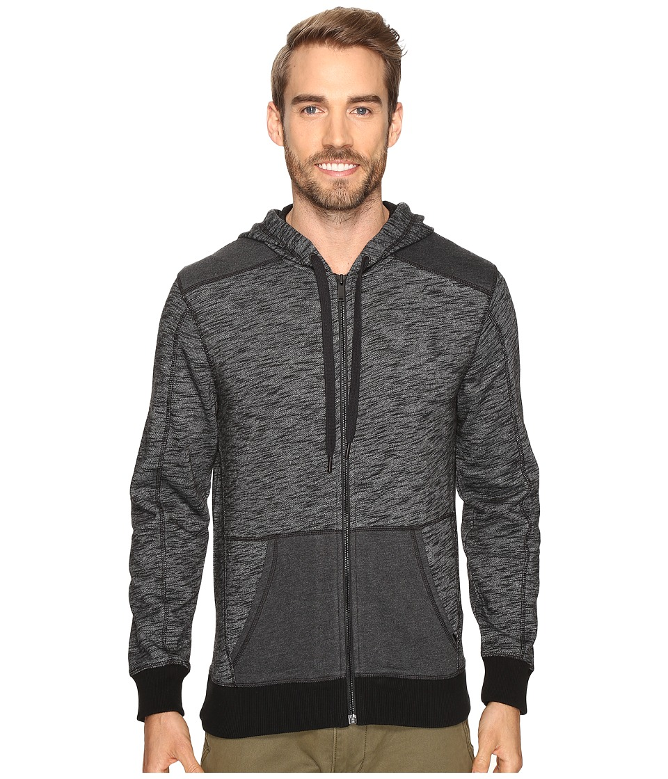 Calvin Klein Jeans - Cross Dye French Terry Full Zip Hoodie (Black) Men's Sweatshirt
