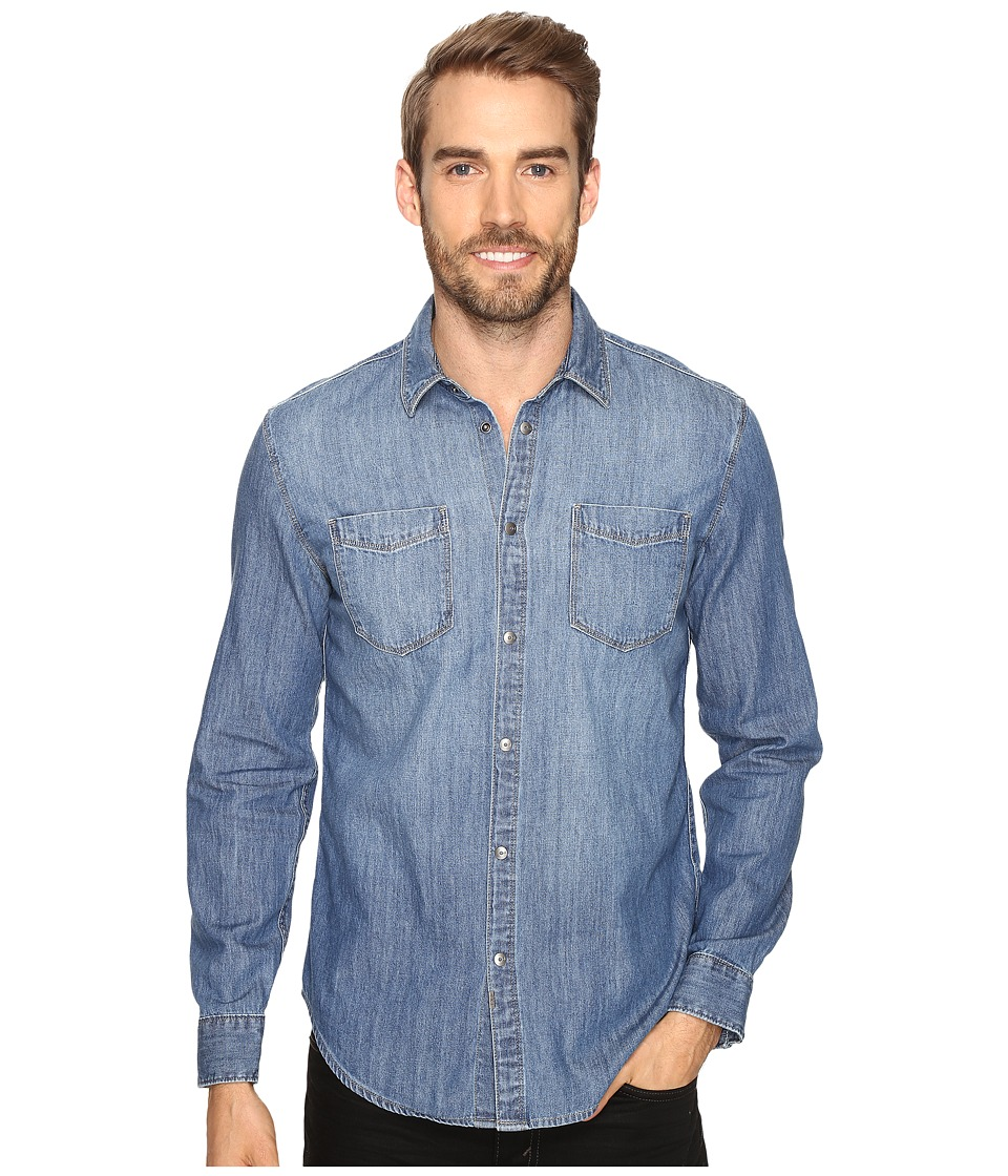 Calvin Klein Jeans - Essential Blue Denim Shirt (Essential Blue Denim) Men's Clothing