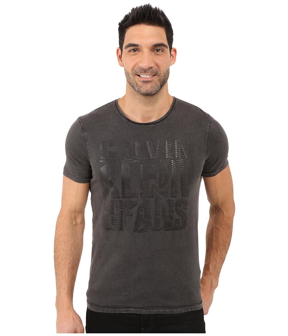 Calvin Klein Jeans - HD Print Liquify Crew Neck Tee (Ebony) Men's T Shirt