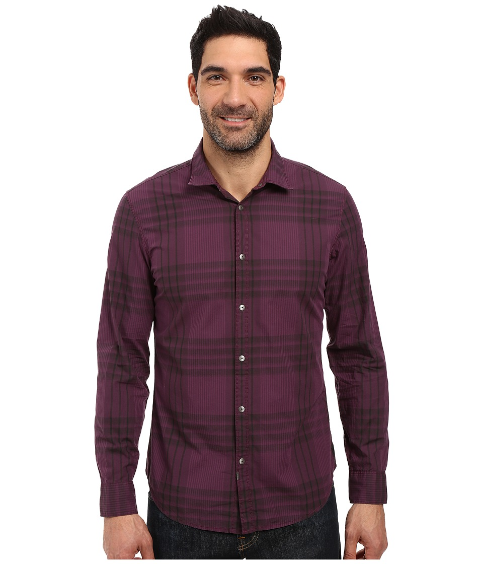Calvin Klein Jeans - Mulberry Wave Plaid (Mulberry Port) Men's Clothing
