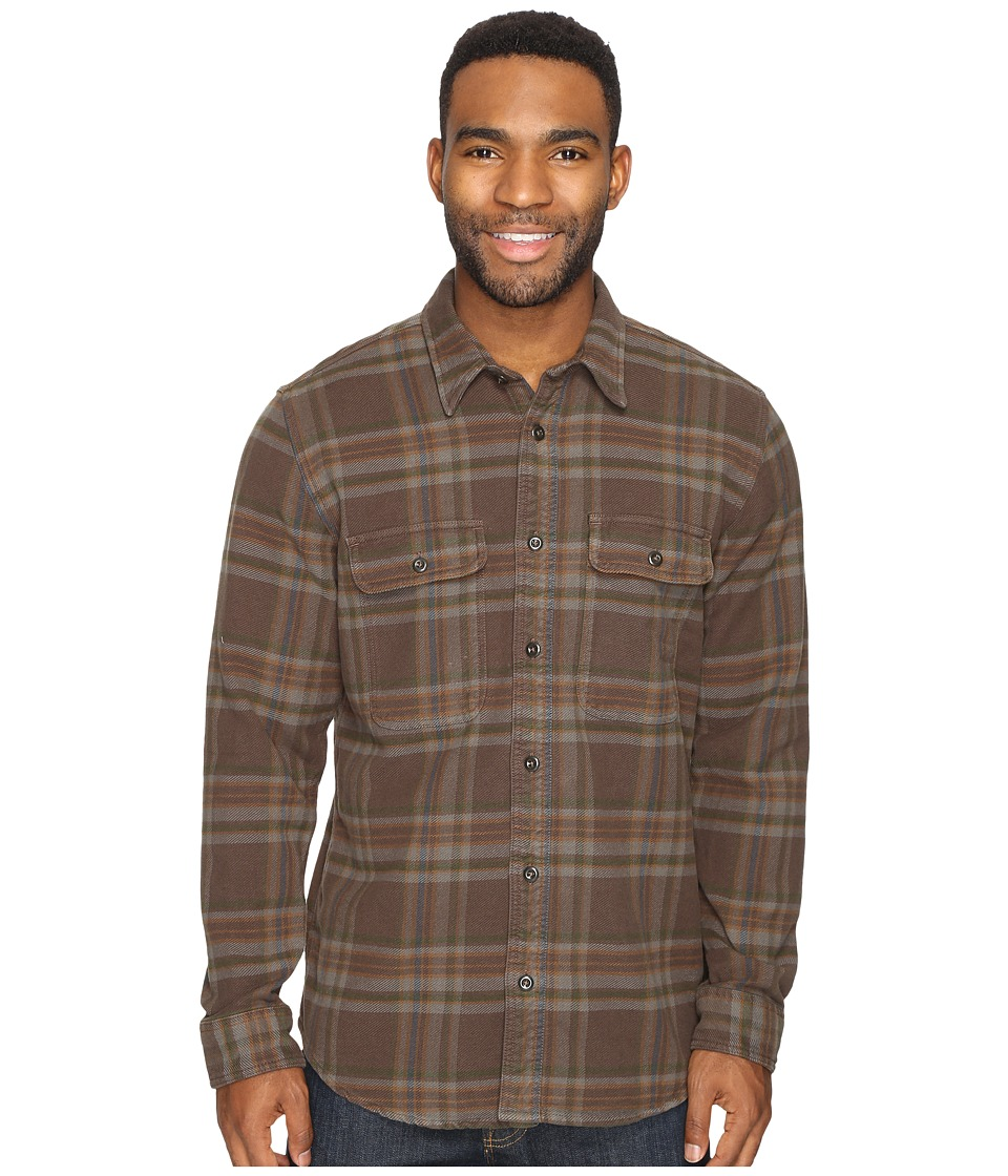 Filson - Vintage Flannel Work Shirt (Brown/Charcoal/Green) Men's Clothing