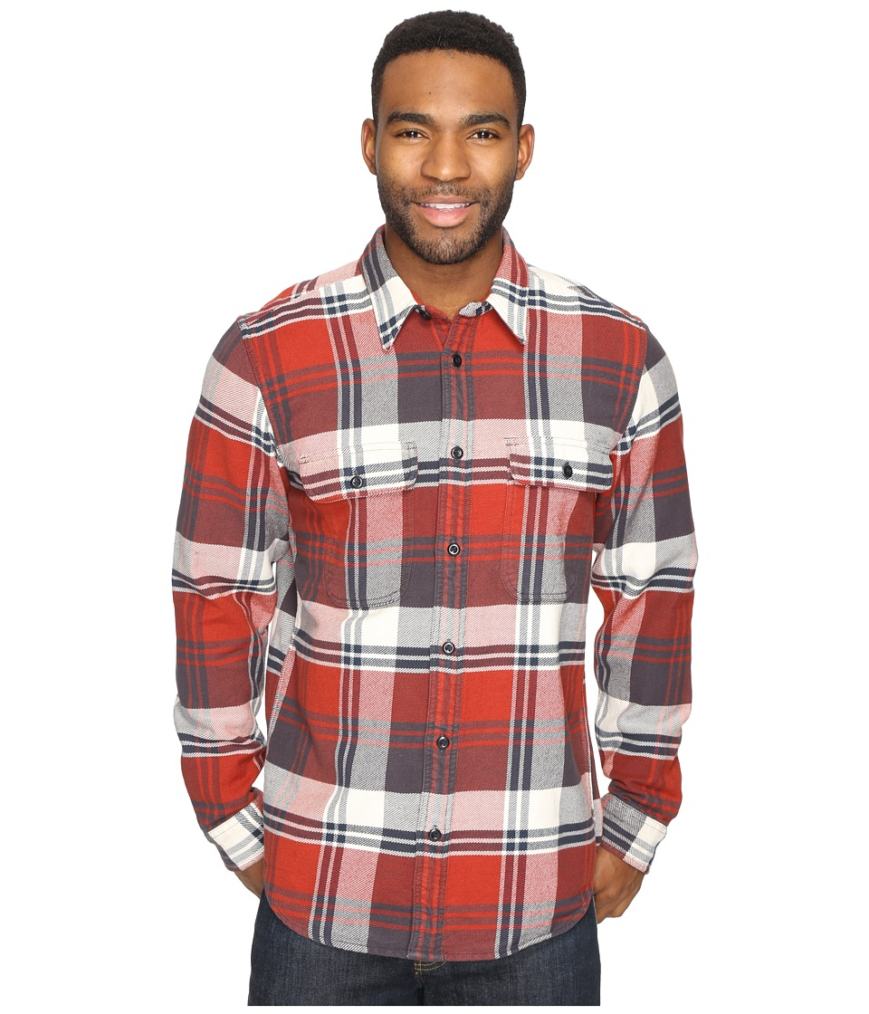 Filson - Vintage Flannel Work Shirt (Red/Cream Blue) Men's Clothing