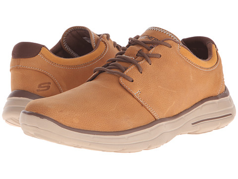 SKECHERS - Relaxed Fit Glides - Erwin (Tan Leather) Men