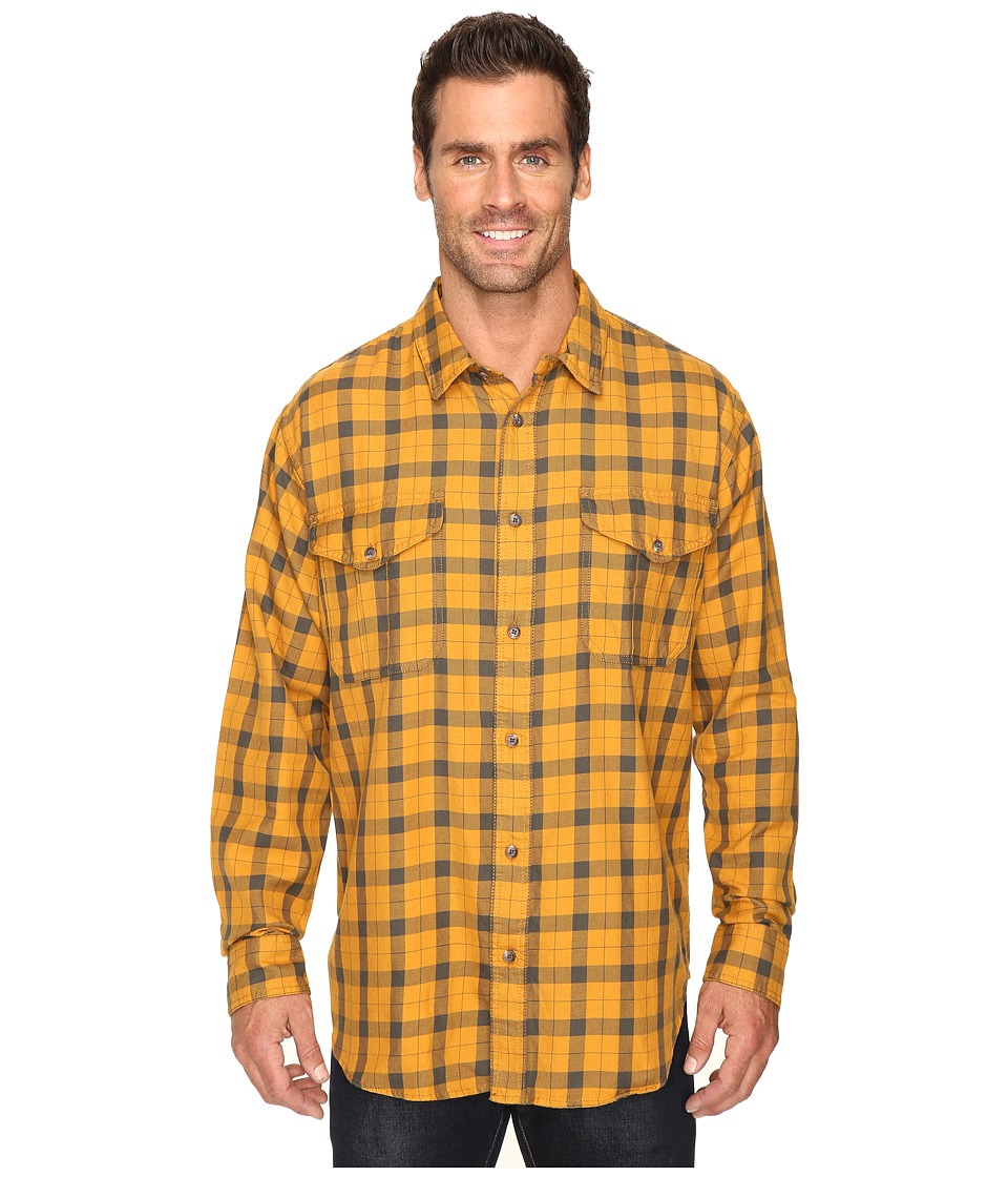 Filson - Lightweight Alaskan Guide Shirt (Gold/Dark Olive) Men's Long Sleeve Button Up