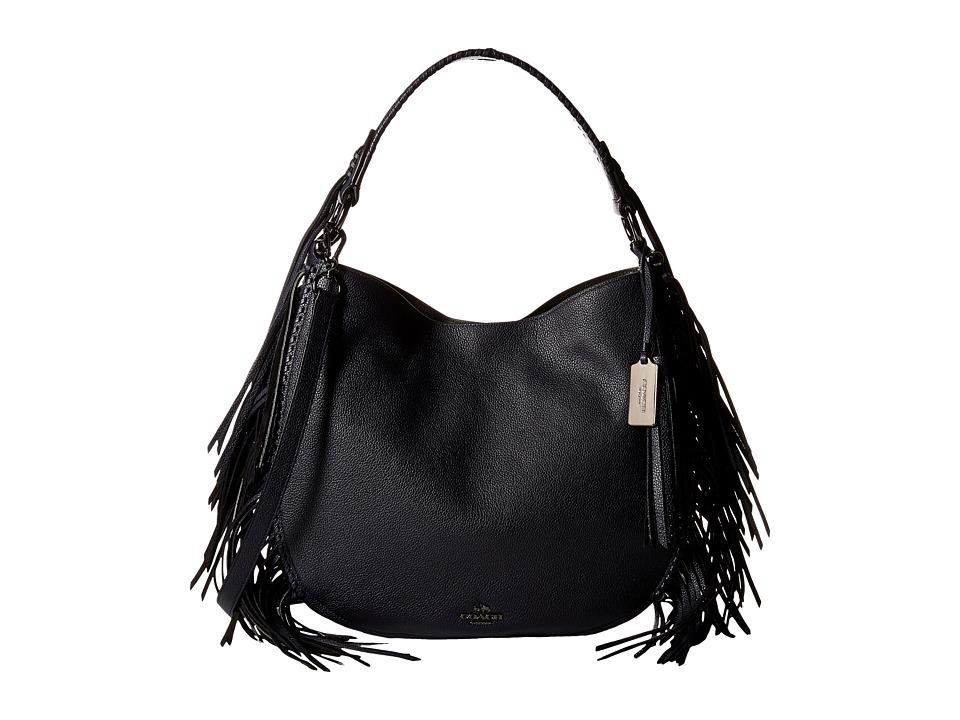 COACH - Fringe Coach Nomad Hobo (DK/Navy) Hobo Handbags