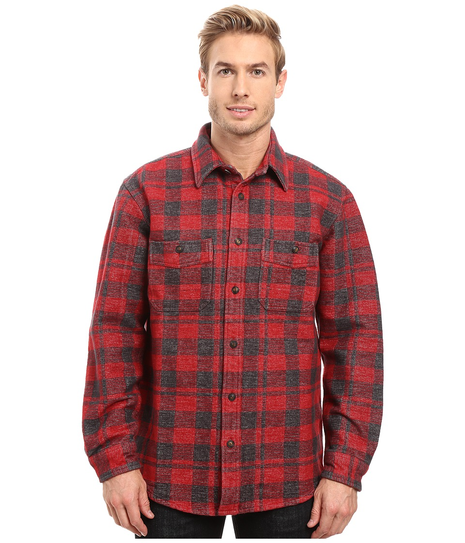 Filson - Alaskan Double Chamois Shirt (Charcoal/Red) Men's Clothing