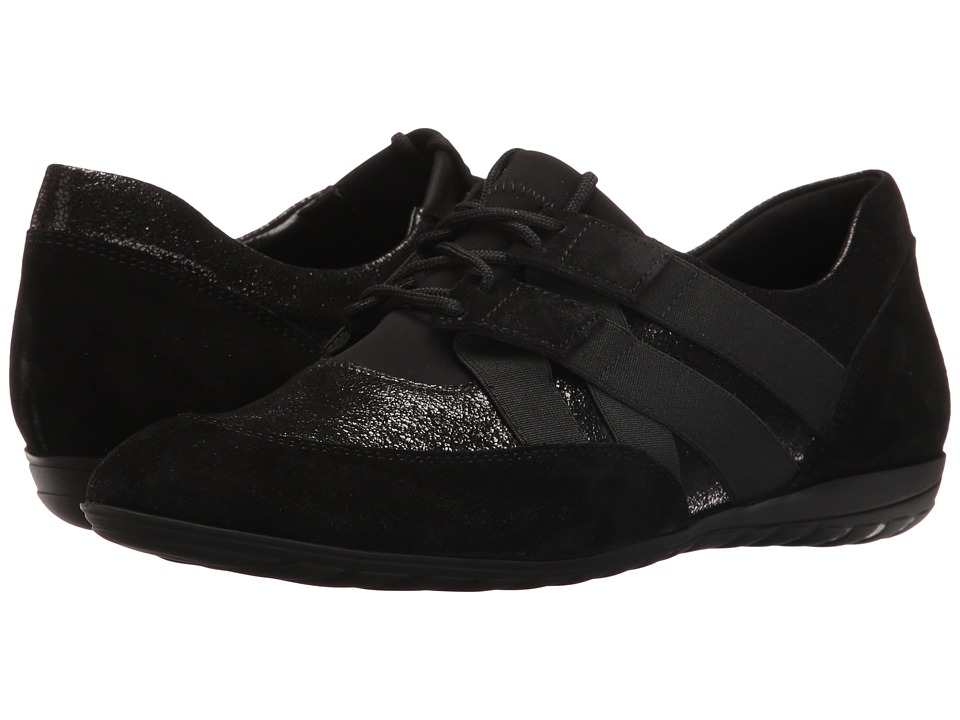 Sesto Meucci - Berkly (Black Grana/Black Calf Suede/Black Nicole Stretch) Women's Lace up casual Shoes