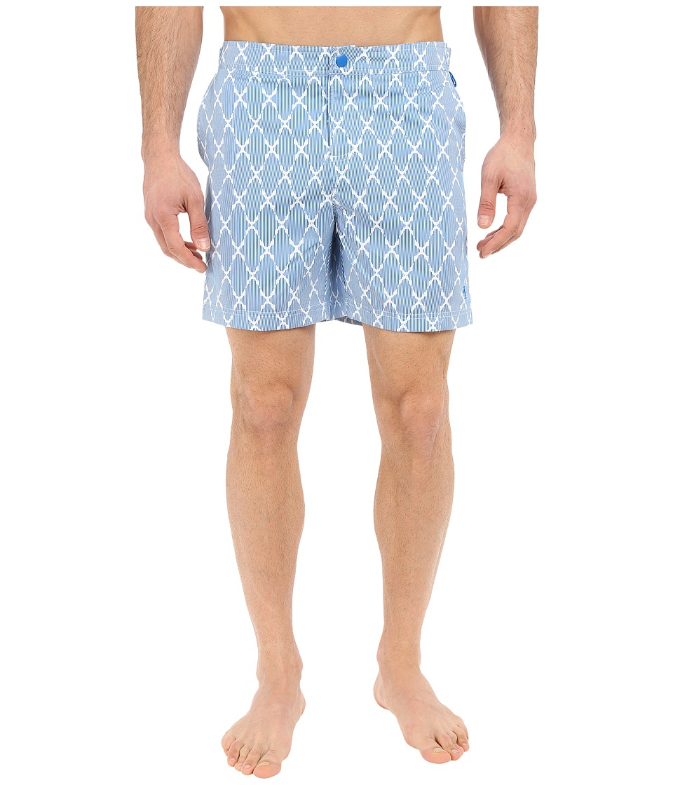 Original Penguin Tile Print Fixed Swim Volley Fit (Directoire Blue) Men
