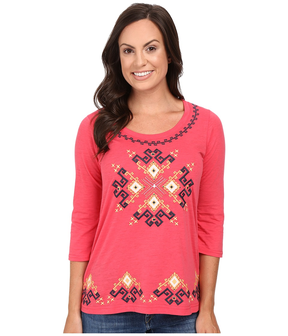 Roper - 0444 Light Slub Jersey Tunic (Red) Women's Blouse