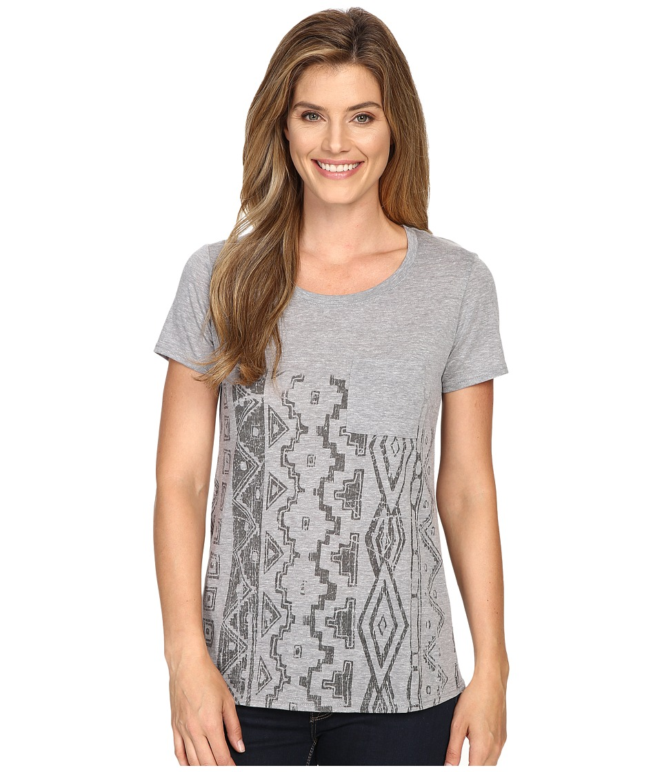 Roper - 0428 Heather Jersey Boyfriend Tee (Grey) Women's T Shirt