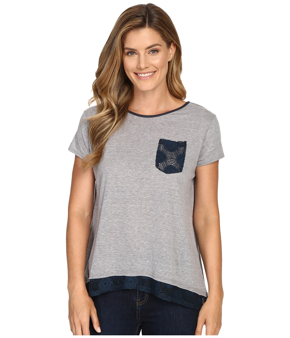 Roper 0428 Lightweight Heather Jersey Slouchy Tee (Grey) Women