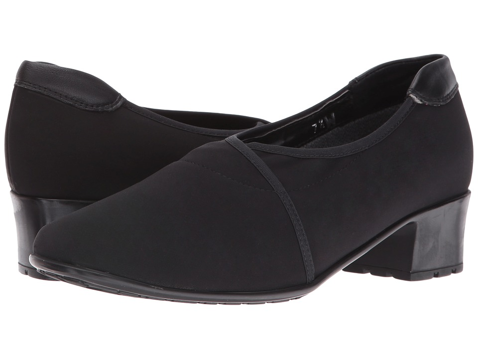 Sesto Meucci - Yetta (Black Micro Stretch) Women's 1-2 inch heel Shoes