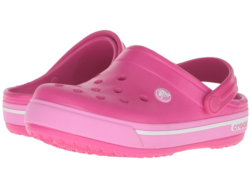 Crocs Kids - Crocband II.5 Clog (Toddler/Little Kid) (Candy Pink/Party Pink) Girls Shoes