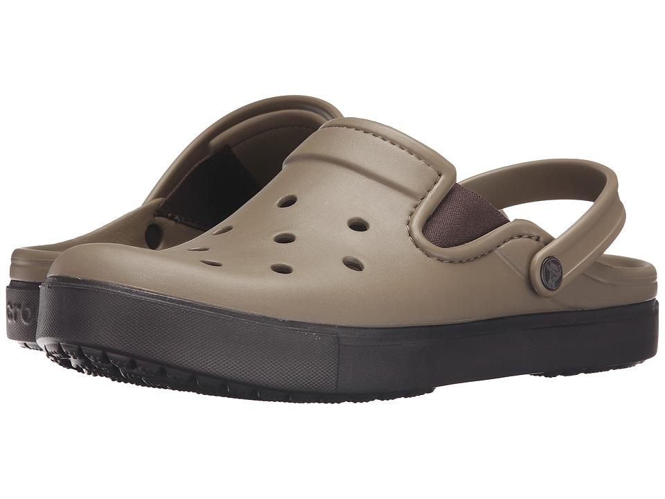 Crocs CitiLane Clog (Khaki/Espresso) Clog Shoes