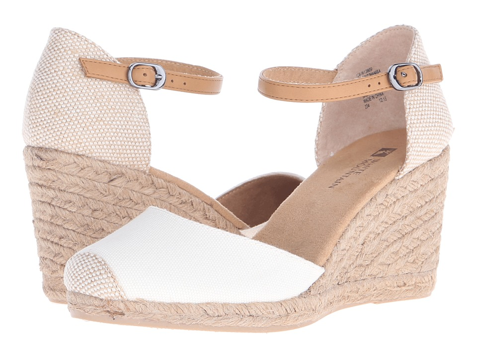 White Mountain - Mamba (Natural/Fabric) Women's Wedge Shoes