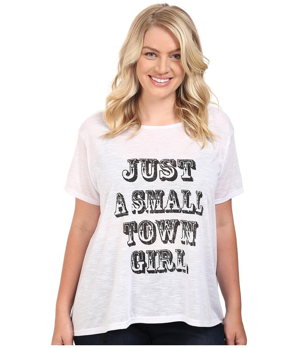 Roper - Plus Size 0427 Poly Slub Jersey Slouch Tee (White) Women's T Shirt