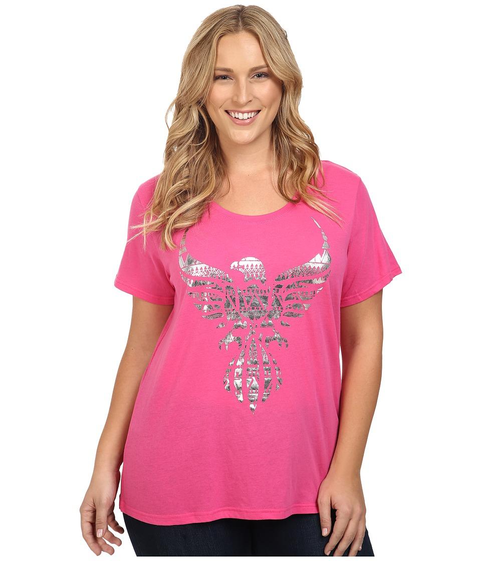 Roper - Plus Size 0432 Lightweight Jersey Tee (Pink) Women