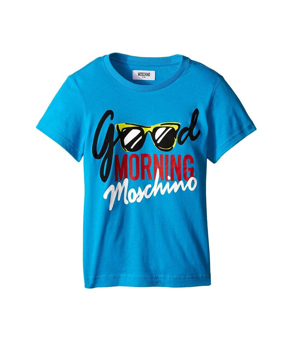 Moschino Kids - Good Morning T-Shirt (Little Kids/Big Kids) (Blue) Boy's T Shirt