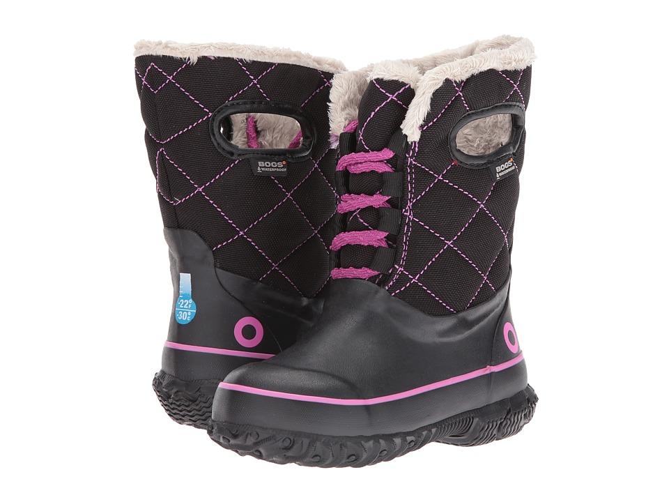 Bogs Kids Juno Lace Tall (Toddler/Little Kid/Big Kid) (Black Multi) Girls Shoes