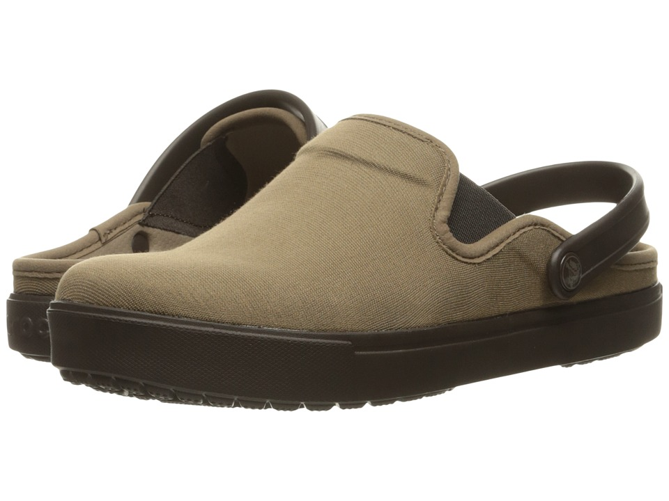 Crocs CitiLane Canvas Clog (Khaki/Espresso) Clog Shoes