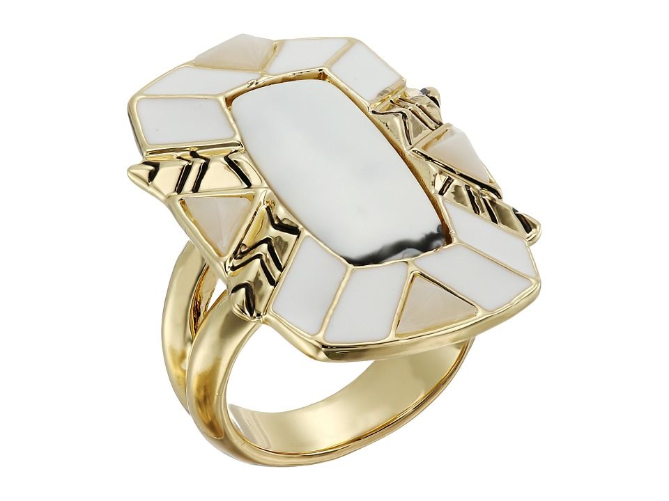 House of Harlow 1960 - Nile Delta Cocktail Ring (Howlite) Ring