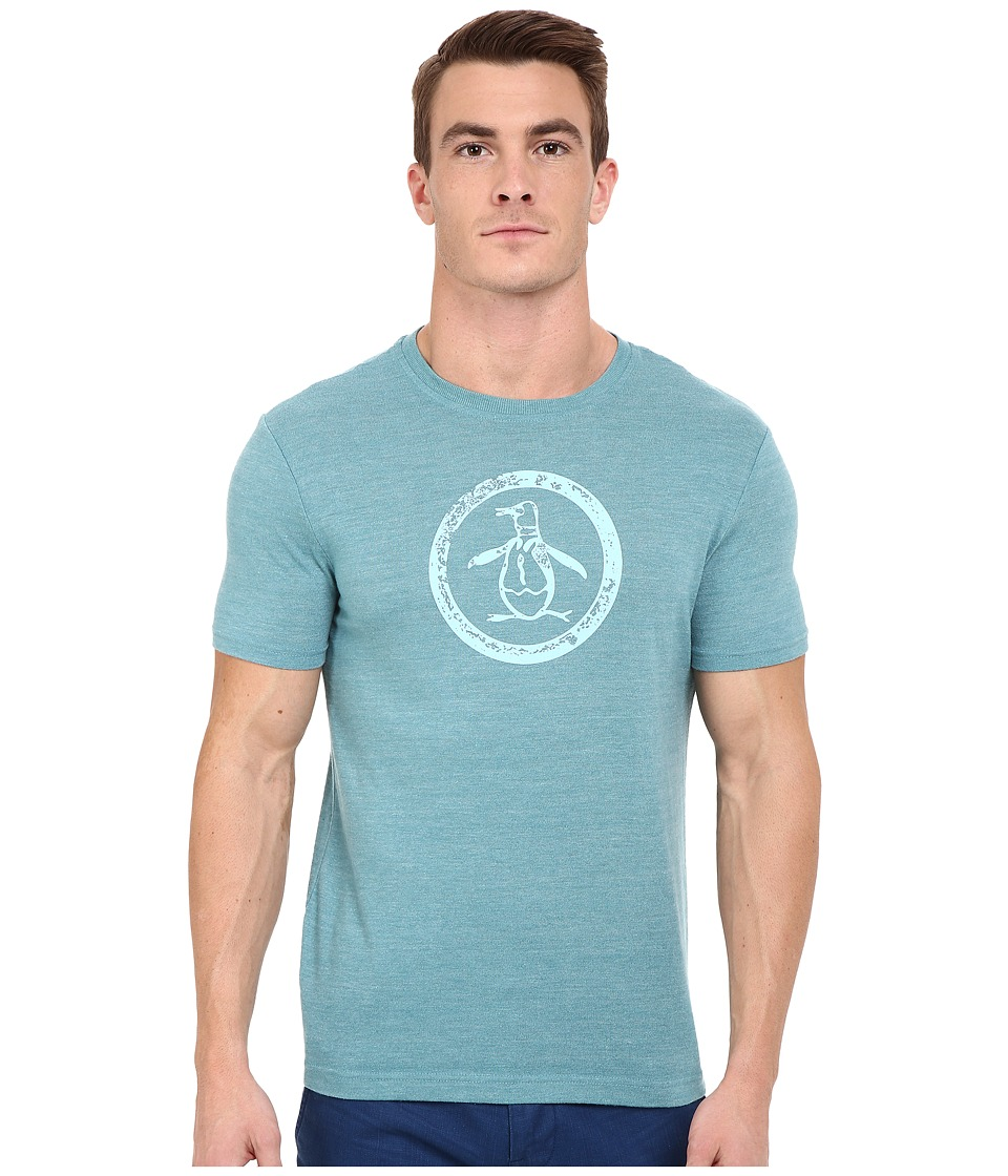 Original Penguin - Triblend Distressed Circle Logo Tee (Brittany Blue) Men's T Shirt