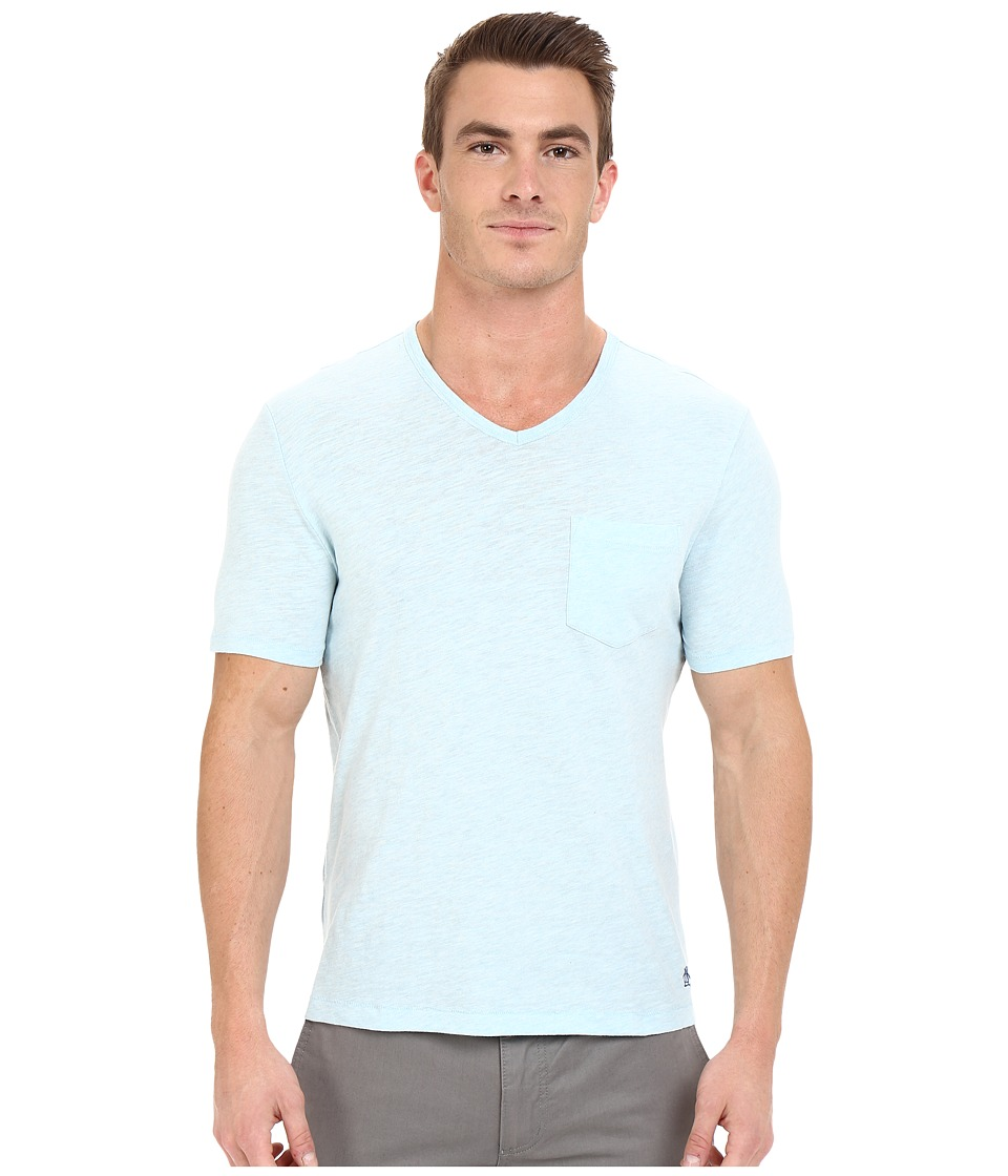 Original Penguin - Bing V-Neck (Crystal Blue) Men's T Shirt