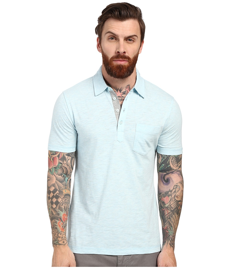 Original Penguin - Bing Polo (Crystal Blue) Men's Short Sleeve Pullover
