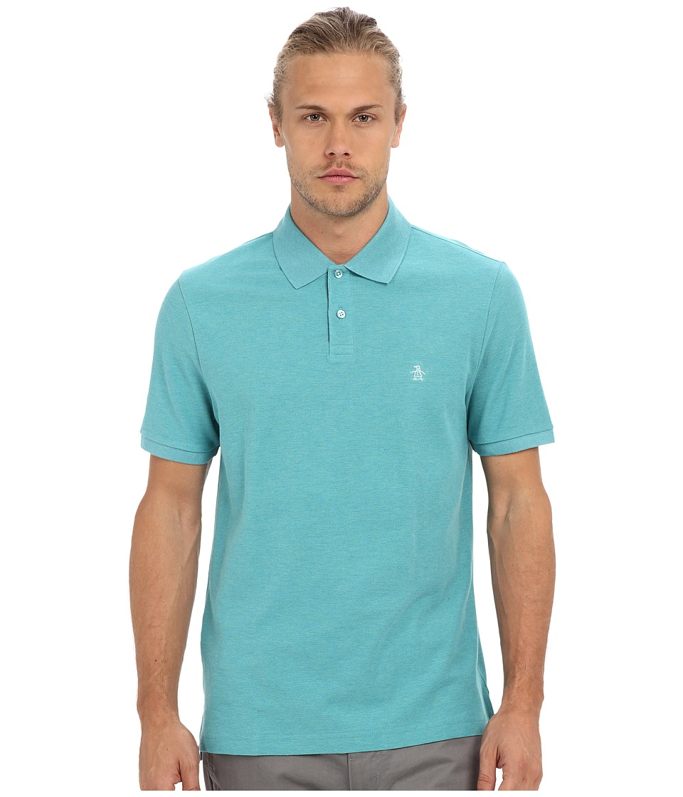 Original Penguin - Daddy-O Polo (Brittany Blue) Men's Short Sleeve Knit