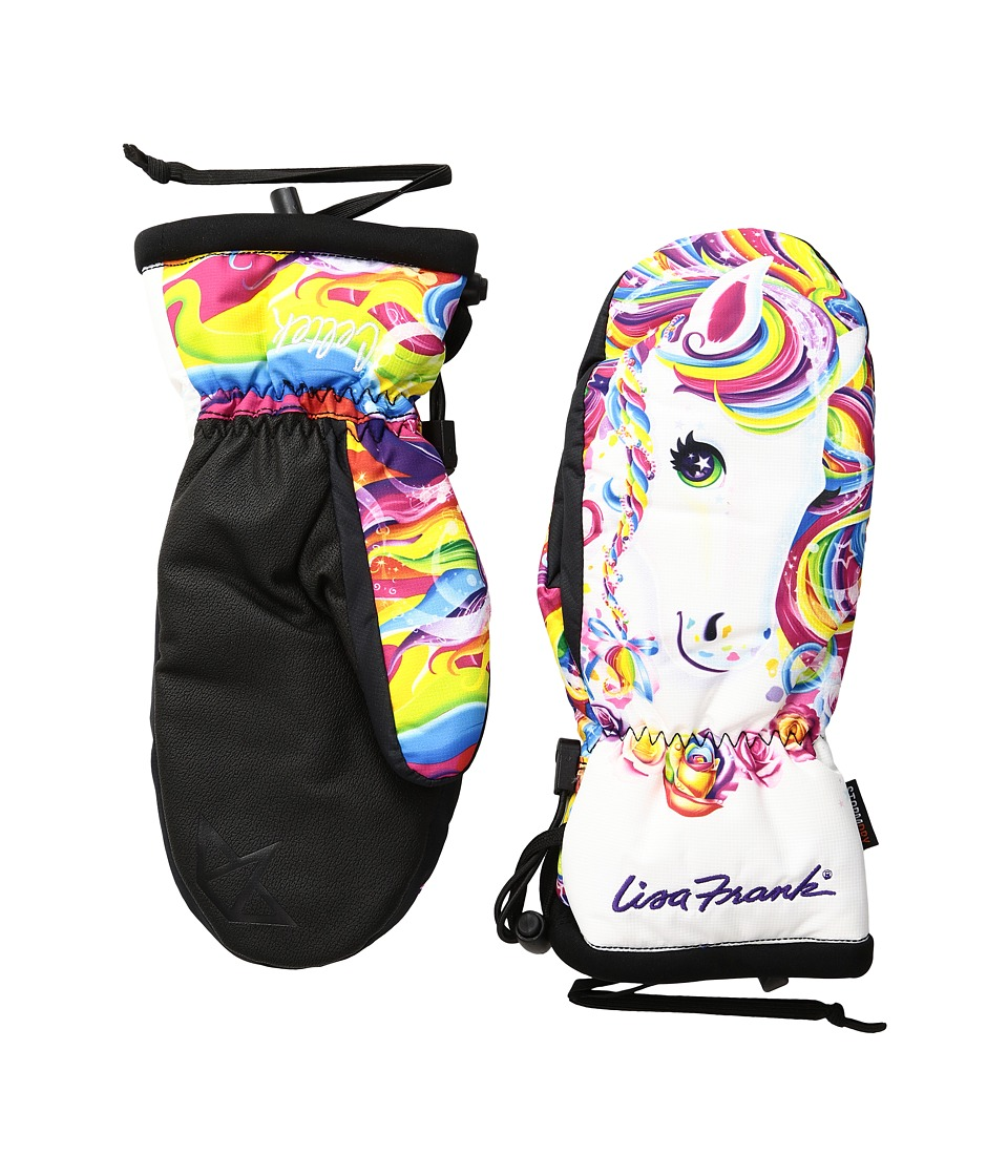 Celtek - Bitten By a Womitten (Lisa Frank Rainbow Majesty) Snowboard Gloves