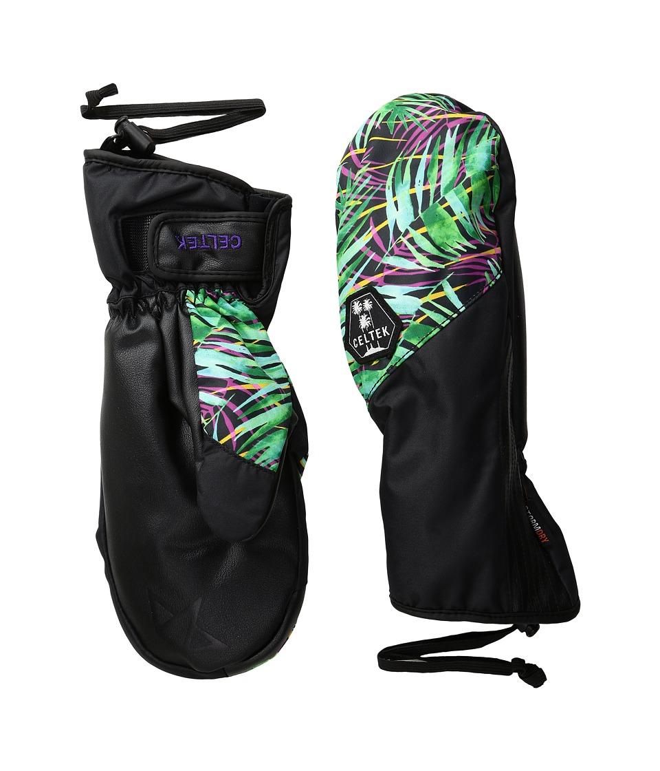 Celtek - Maya Mitten (Island Palm) Snowboard Gloves