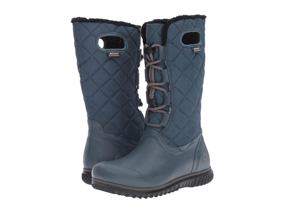 Bogs Juno Lace Tall Midnight Navy Womens Cold Weather Boots