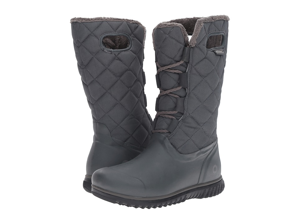 Bogs - Juno Lace Tall (Dark Grey) Women's Cold Weather Boots