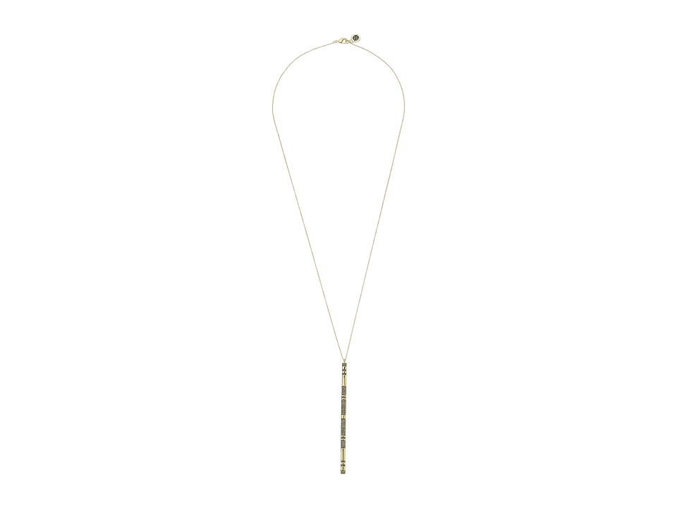 House of Harlow 1960 - Atum Pav Bar Necklace (Gold) Necklace