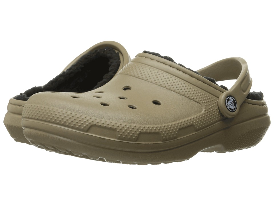 Crocs - Classic Lined Pattern Clog (Khaki/Black) Clog Shoes