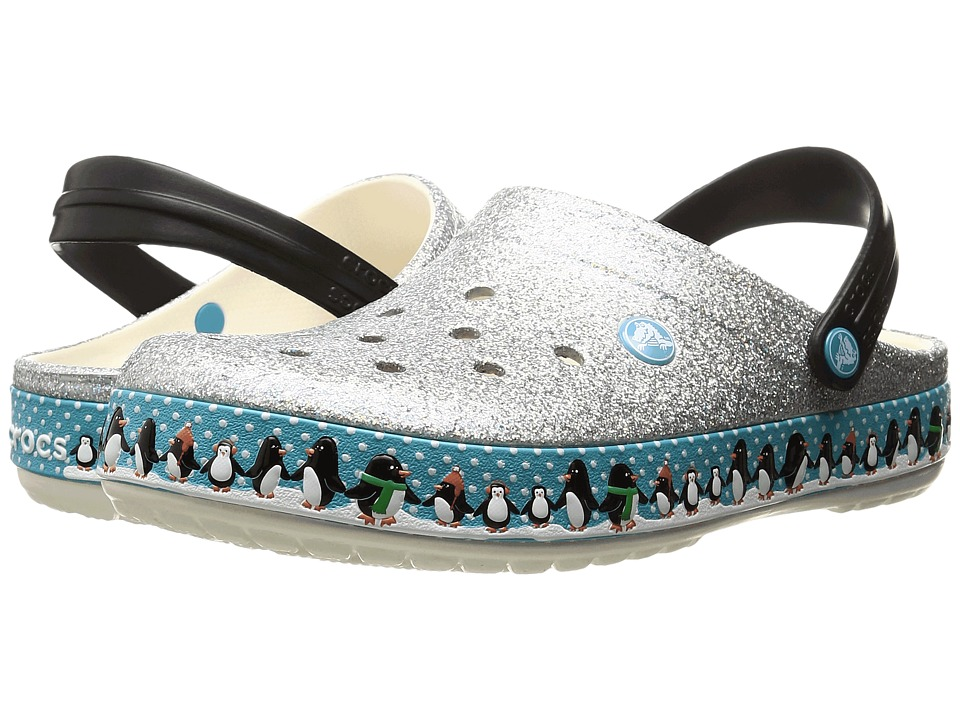 Crocs - Crocband Penguins Clog (Oyster) Clog Shoes