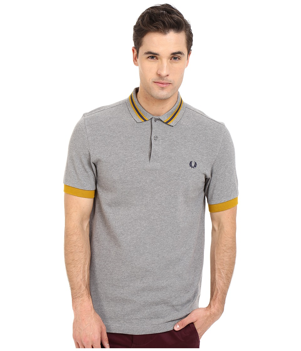 Fred Perry - Bomber Stripe Collar Shirt (Ivy) Men's Clothing
